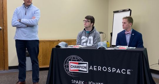 Champion Aerospace signs youth apprentices