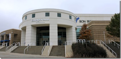 "The main entrance to the Bon Secours Wellness Arena is now called the Entegra Bank Entrance after the bank and arena formed a five-year partnership. The bank will also be the ""official banking partner"" for the arena. (Photo provided)"