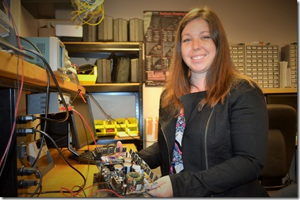 Jessica Anthony was the first woman in the mechatronics program at ECPI University in Greenville. Mechatronics combines mechanics and electronics. (Photo by Teresa C. Hopkins)