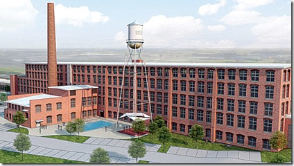 Architect's rendering of the future loft apartments at the former American Spinning Mill located in the Poinsett district of downtown Greenville. (Image provided)