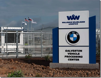 The BMW Group recently opened the Galveston Vehicle Distribution Center at the Port of Galveston in Texas. The new facility will help store, inspect, program and perform maintenance on BMW and Mini vehicles to be sold in the company's southern U.S. region. (Photo provided by BMW of North America)