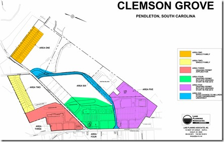 The plan for Clemson Grove calls for a mixed-use development along Clemson Boulevard. (Rendering/Provided)