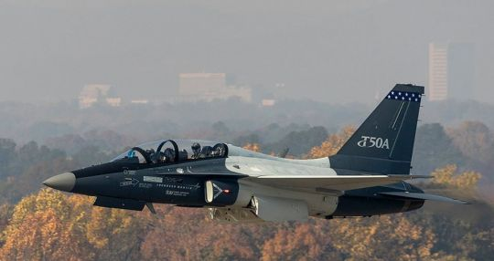 Lockheed Martin tests T-50A over Greenville