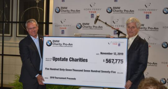 Pro-am organizers present funds, add charities for 2020