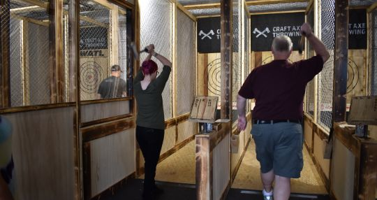 Upstate Weekend: Craft Axe Throwing league competitions