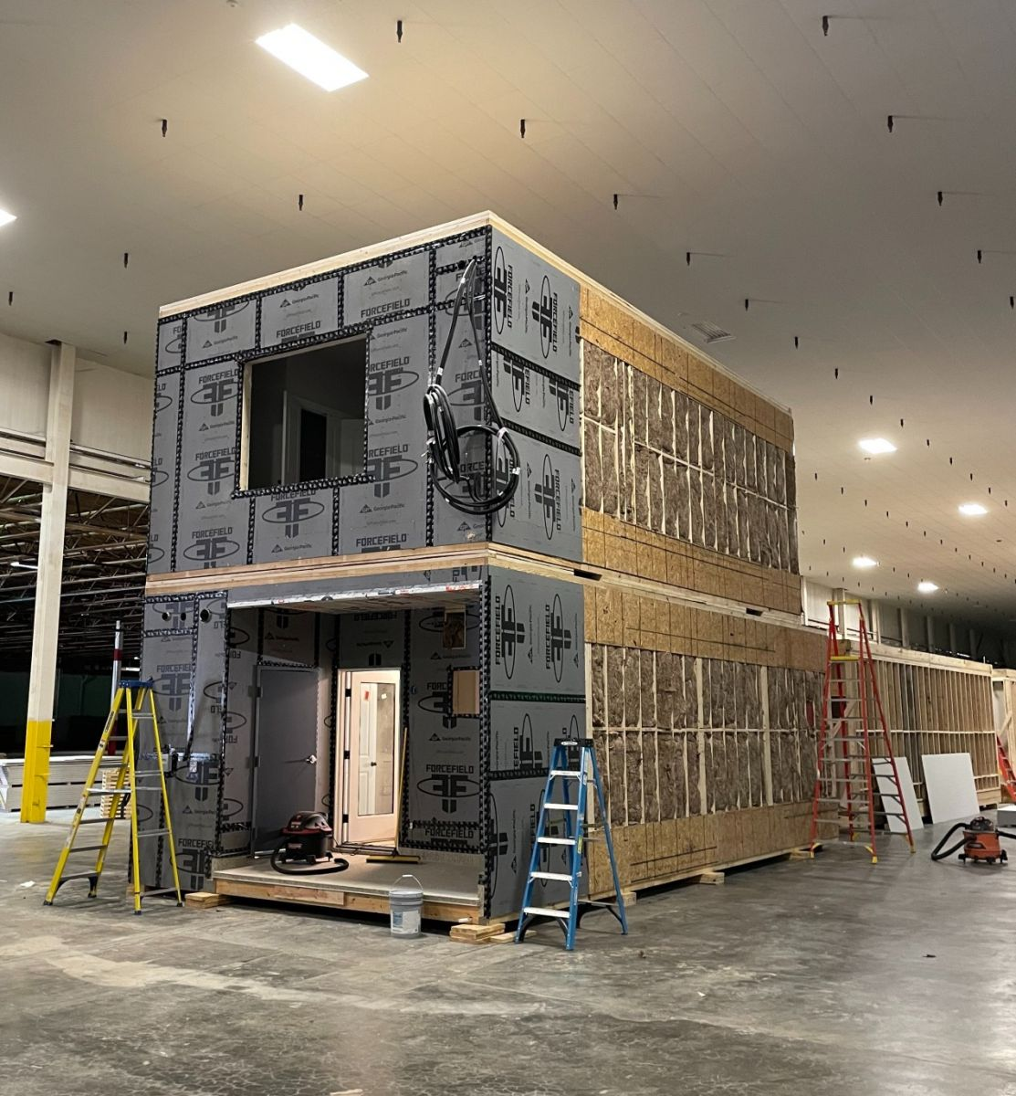 Bmarko has already begun to assemble apartment modules in the Greenville warehouse. (Photo/Provided)