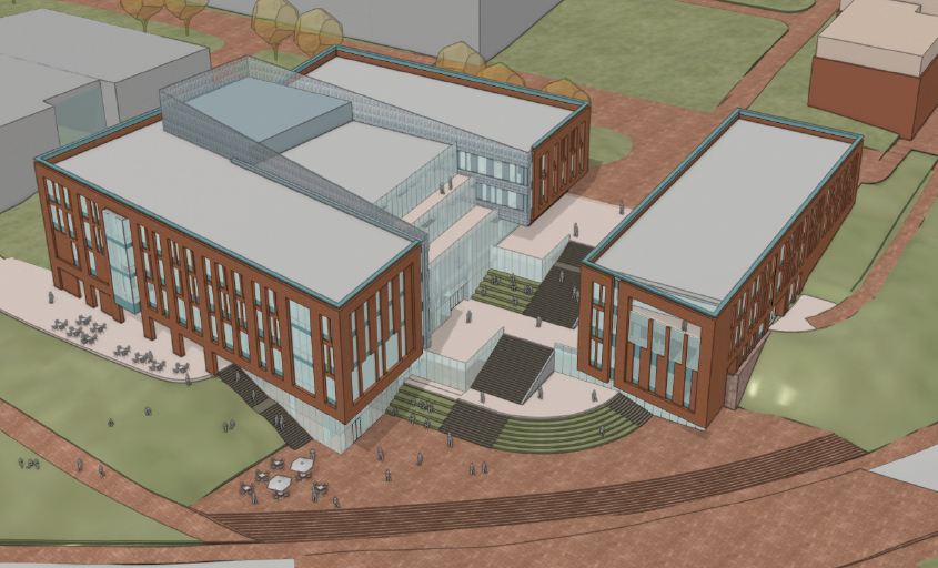 A top view showed the scope and layout of the new building for Clemson University's College of Business. (Rendering/Provided)