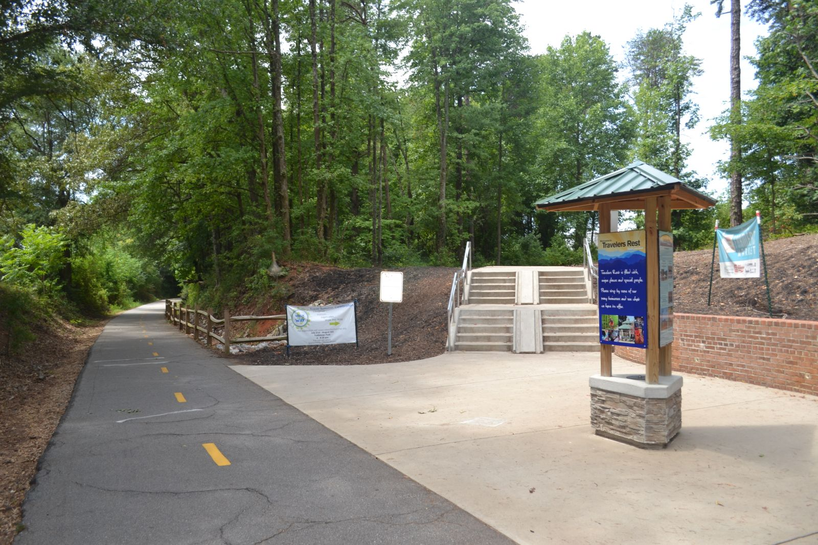 Travelers Rest has constructed connectors that connect various neighborhoods and the Trailblazer Park to the Swamp Rabbit Trail. (Photo by Teresa Cutlip)