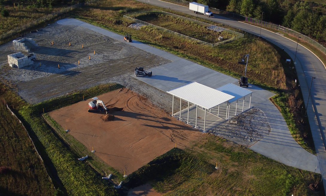 This is an aerial view of Bosch Rexroth's new research and development testing area near its Fountain Inn manufacturing facility. (Photo/Provided)