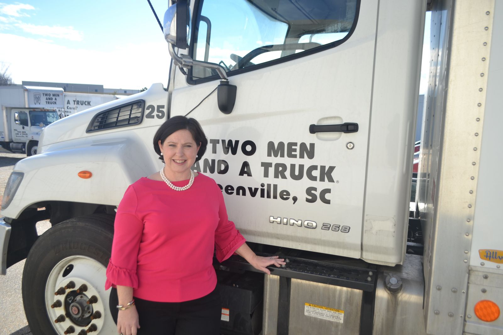 Rebecca Feldman owns Two Men and a Truck in Greenville. (Photo/Teresa Cutlip)