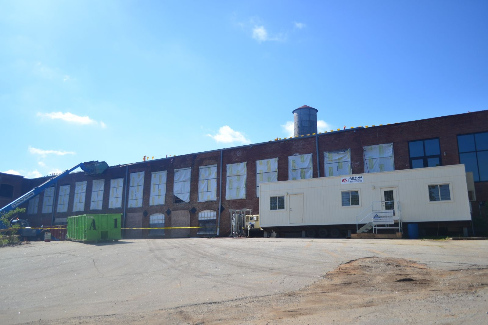 Work is underway to renovate the former Apalache Mill. (Photo/Teresa Cutlip)