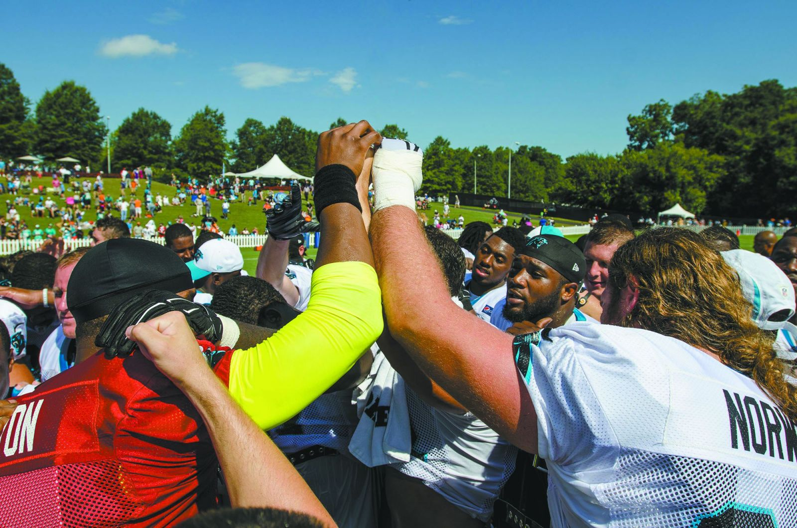 More than 135,000 fans came to Spartanburg in 2016 to see the Carolina Panthers at their training camp at Wofford College. (Photo/Provided)