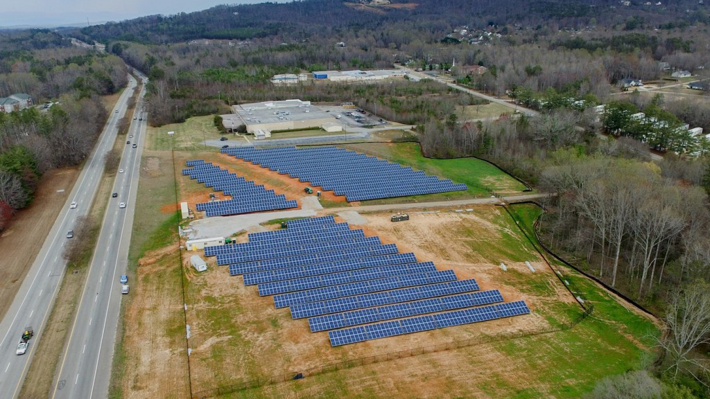 The solar installation is located on six acres of land near the main campus entrance along Poinsett Highway and consists of 2,994 solar panels. (Photo/Provided)