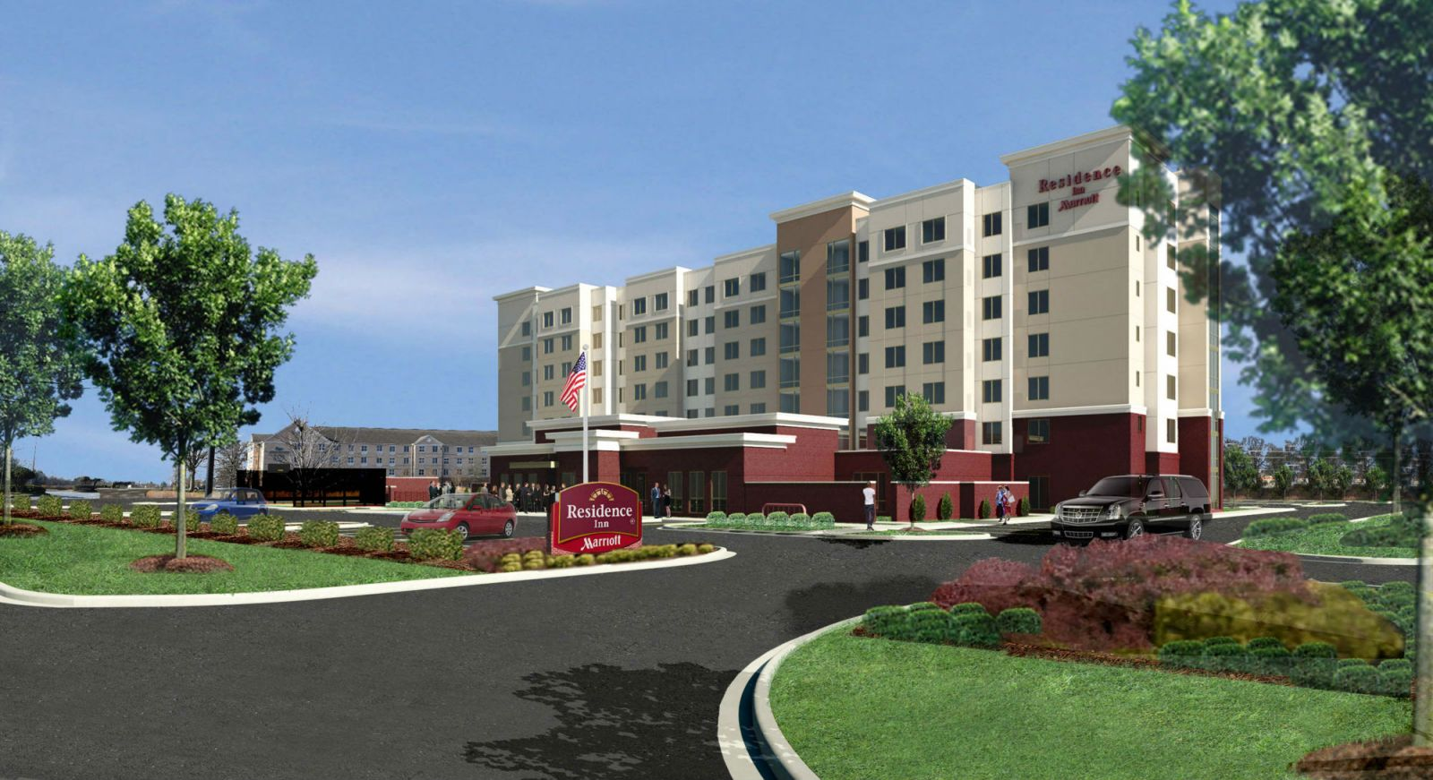This is a rendering of the new Residence Inn by Marriott which will be located on Carolina Point Parkway in Greenville. Windsor Aughtry Hotel Group in Greenville said it has already started construction on the 138-room facility. (Rendering/Provided)