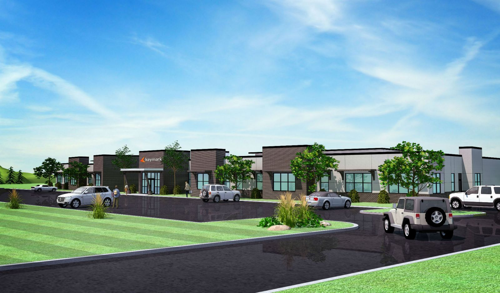 This is a rendering of the new KeyMark building that will be located at the Pickens County Commerce Park. The company is expanding its operations to include a 22,000-square-foot building and the addition of 110 new employees. (Rendering/Provided)