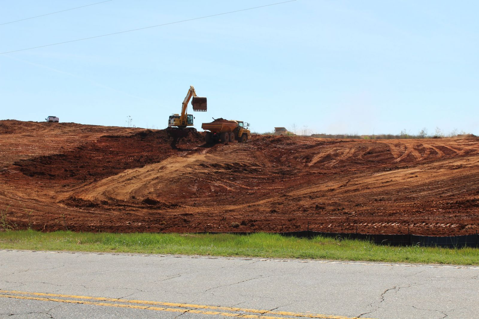 About 1.1 million cubic yards of dirt are being moved at the Oconee Industry and Technology Park to prepare the site for the new Tri-County Tech campus. (Photo/Provided)