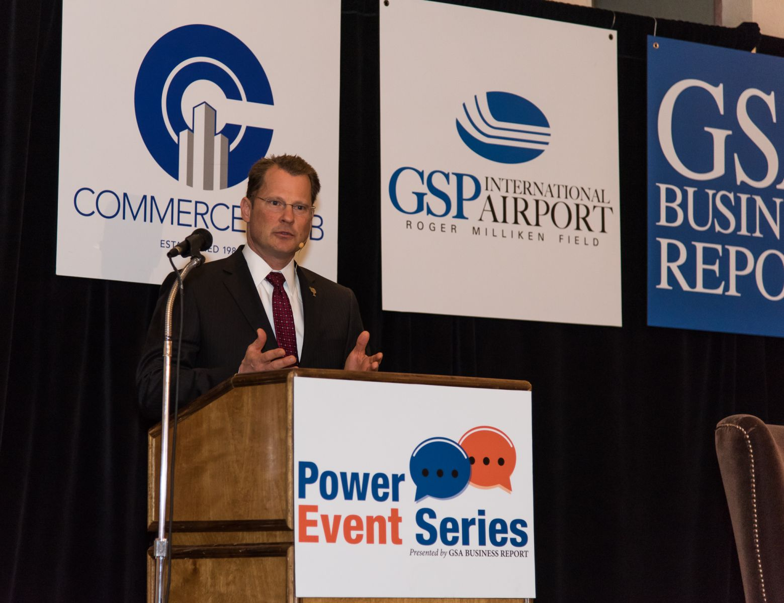Lt. Gov. Kevin Bryant discussed the state's economy during a GSA Business Report Power Event on Thursday. (Photo/Kathy Allen)