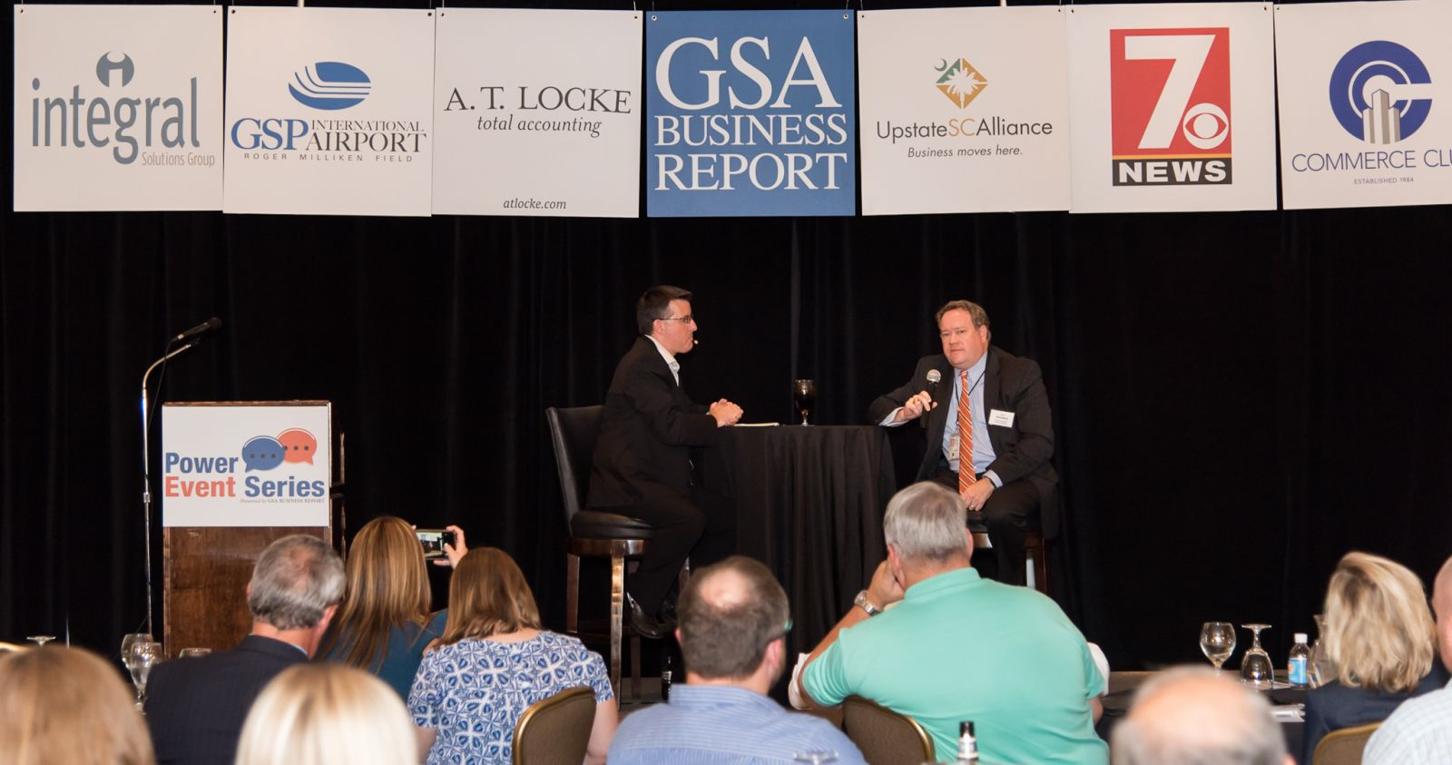 Manufacturers talked about workforce development and other challenges during a GSA Business Report Power Event on Thursday. (Photo/Kathy Allen)