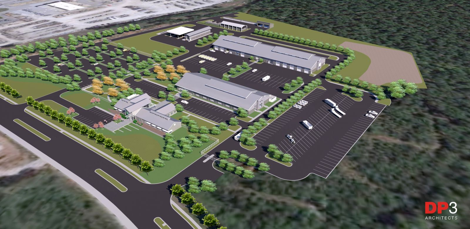This rendering shows the design of the new Greenville Public Works facility to be located on Fairforest Way in Greenville. (Rendering provided)