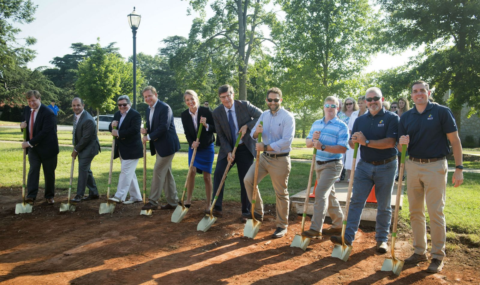 Spartanburg Methodist College representatives break ground for a new fitness center. (Photo/Provided)