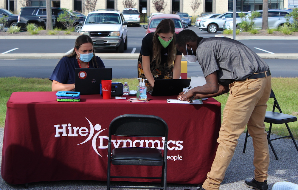 Hire Dynamics has hosted several drive-thru hiring fairs during the pandemic to meet its clients' demands for employees. (Photo/Provided)