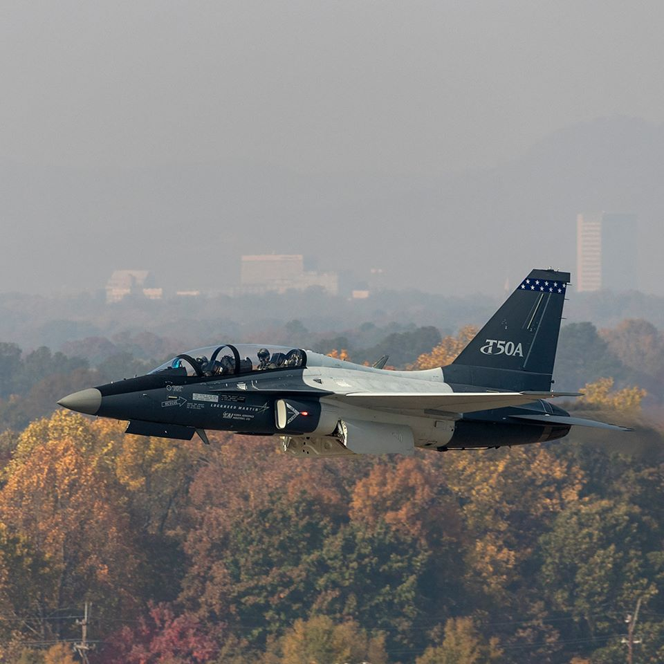 Lockheed Martin's T-50A fighter trainer aircraft took flight over Greenville for the first time on Saturday. The aircraft will be entered into a competition to be the next trainer aircraft for U.S. Air Force fighter pilots. (Photo provided)