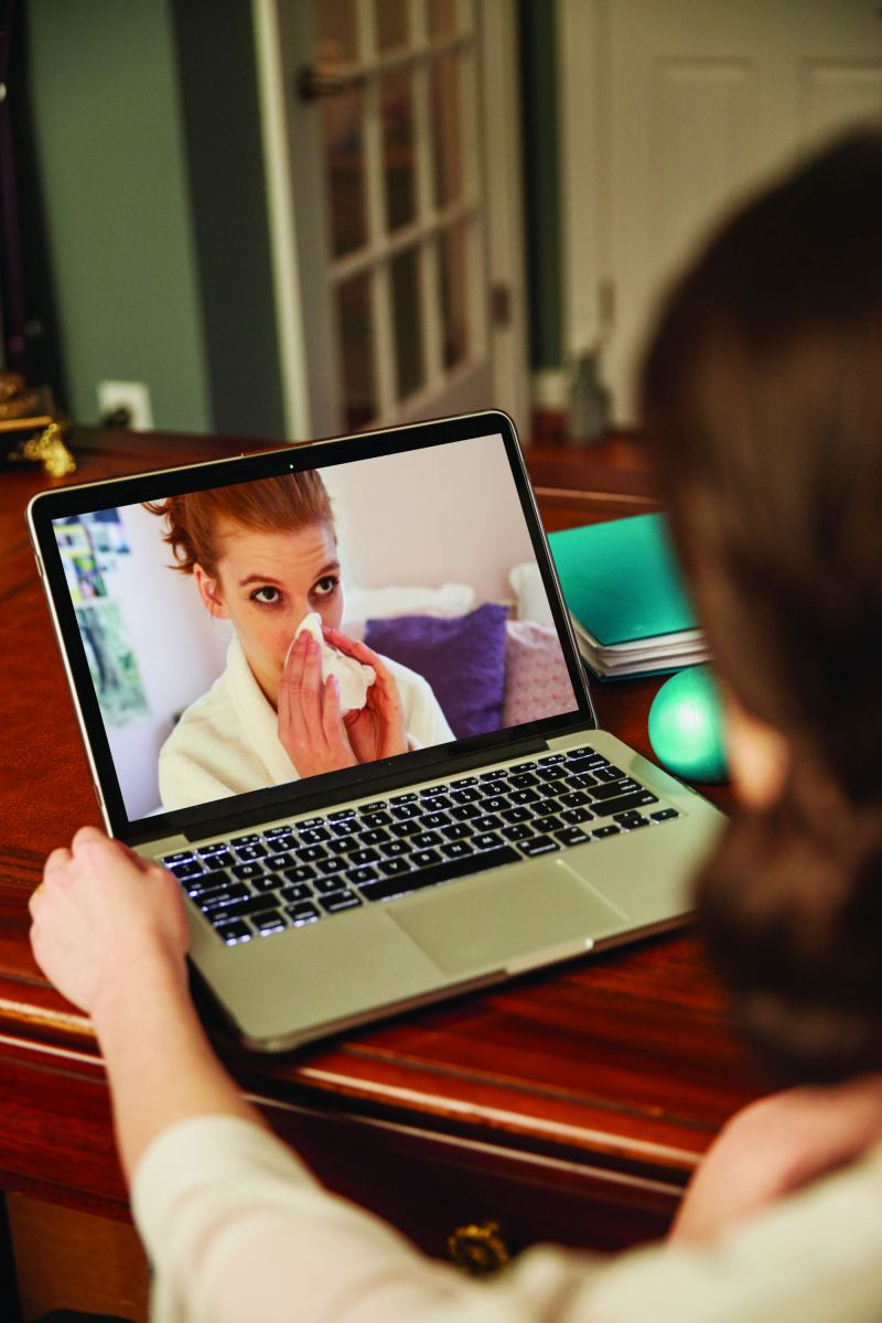 The telehealth program through Bon Secours St. Francis allows patients to communicate with a health professional via video. (Photo provided)