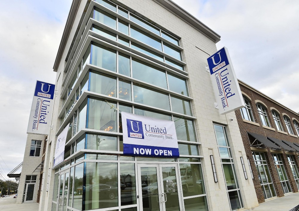 United Community Bank occupies 7,500 square feet across two floors in the corner position of United Community Plaza. (Photo/Provided)