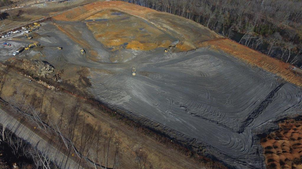 This is an overhead view of a coal ash pit at Duke Energy's W.S. Lee facility near Williamston. The company has removed nearly 650,000 tons of coal ash from an unlined pits, according to the Southern Environmental Law Center. (Photo provided)