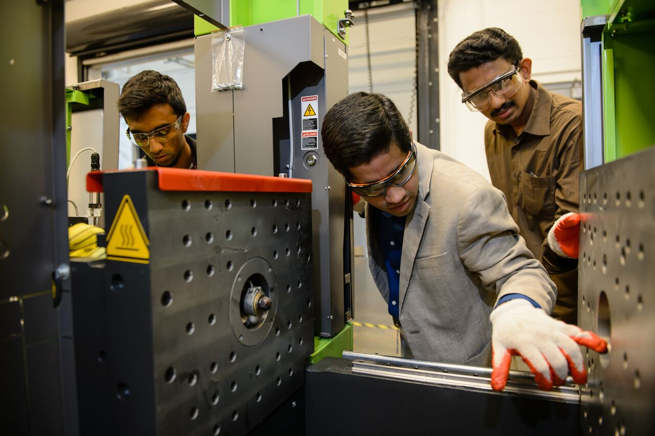 Srikanth Pilla and his graduate students at the Center for Automotive Engineering in Greenville are working on ways to make cars lighter and, therefore, more fuel efficient. (Photo/Provided)